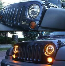 """Fit For Wrangler Jl 2018-2020 All Led Headlight Projector Turn Signal Drl 9""""2pc"""