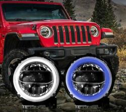 All Led Headlight Halo Projector Drl 9andrdquo3color For Wrangler Jl 2018-2020 2pcs