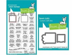 Lawn Fawn Clear Stamp And Die Combo Love Poems Valentineand039s 2167 2168