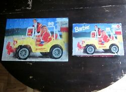 Barbie And Ken Jigsaw Puzzle Baywatch Jeep 1999 Doll In Yellow Jeep Lifeguard