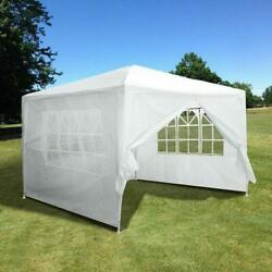 10and039x10and039 Party Tent Outdoor Canopy Tent Gazebo Wedding Canopy 4 Side Walls Us