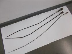 3pcs Vintage Aircraft Cessna Throttle Cable With Wooden Knob Box3s