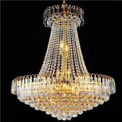 Crown Shaped Chandelier Luxurious Crystal Pendant Light Modern LED Hanging Light