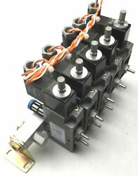 Bank Of 5 Festo Solenoid Valves 3x Mfh-5-1/8 2x Mfh-3-1/8 Supply Ports G3/8