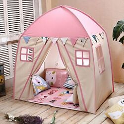 Love Tree Teepee Tent For Kids Play Children Fort Canvas Canopy Pink