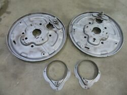 1958 Ford F100 Truck Front Drum Brake Spindle Brake Shoe Backing Plate Pair
