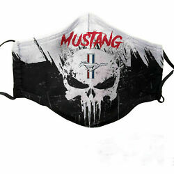 Ford MUSTANG Skull Cotton Face Mask 3D One Size $14.90