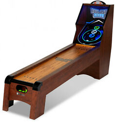 Md Sports 9 Ft. Roll And Score Table, Arcade Game, Includes 4 Skee Ball, Led