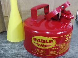 Eagle Safety Gas Can 1 Gallon Osha And Nfpa Approved. New