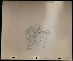Skeletor And Teela 1980and039s Filmation Animation Production Drawings Trio