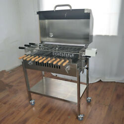 Barbecue Charcoal Grill With Lid Stove Kebab Stainless Steel Bbq Patio Camping