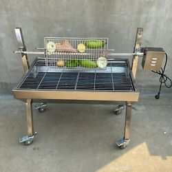 Portable Bbq Whole Pig, Lamb, Goat Charcoal Spit Rotisserie Roaster Grill,187lbs