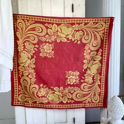 Antique French Fichu Neckerchief Shawl 1800and039s Jouy-en-josas