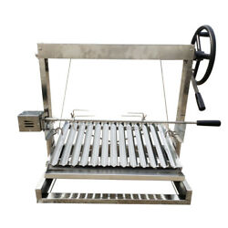 Built In/table Top Charcoal Outdoor Bbq Stainless Steel Argentine Grill Spit