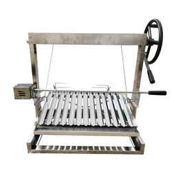 Built In/table Top Charcoal Outdoor Bbq, Stainless Steel Argentine Grill Spit