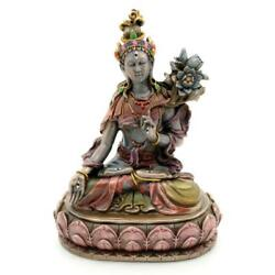WHITE TARA STATUE 6.5quot; Seated Buddhist Goddess HIGH QUALITY Bronze Resin NEW $34.95