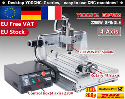 【fr】4axis 6040 2200w 220v Spindle Cnc Usb Mach3 Milling Engraving Router Machine