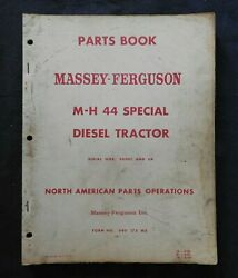 1952-64 Massey Harris M-h 44 Special Diesel Tractor Parts Manual Very Good Shape