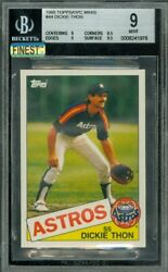 1985 Topps Mini 44 Dickie Thon Bgs 9 Mac Finest Grade 100 Cards Made