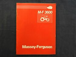 1987 Massey-ferguson Mf 3630 Mf 3650 2 And 4wd Tractor Features Dealers Manual