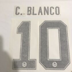Cuatemoc Blanco 10 America 09-10 Name And Number Transfer Authentic Player Issue