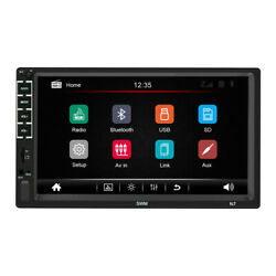 Car Mp5 Player Hd 7 In Touch Screen Bluetooth 2din Fm Fm Aux Input Radio Stereo