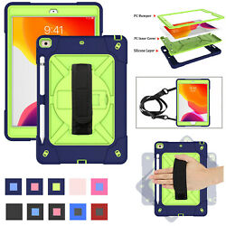 For iPad 7th Gen 10.2 2019 Mini Air 9.7 5th 6th Heavy Duty Kids Strap Stand Case $20.44