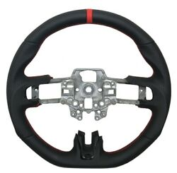 Revesol Black Sports Steering Wheel Red Strip For 2015-2017 Ford Mustang Gt New