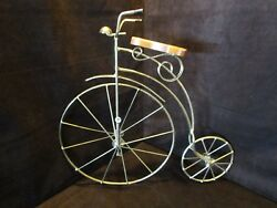 Vintage Bicycle Wall Art Metal Gold tone Lasting Products 20quot; H 3D sculpture