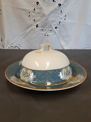 Antique Covered Butter Dish, Circa 1887, Newark Pattern, England. Used Condition