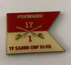 1st Squadron 17th Cavalry Task Force Saber Oef Xi-xiii Challenge Coin B18