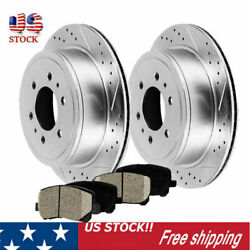 Rear Silver Brake Rotors And Ceramic Pads For Chevrolet Gmc 4x4 4wd 2wd Us Seller