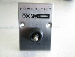 0311847 Omc Cobra And Stringer Stern Drive Power Tilt Switch And Plate 1972-1998