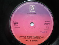 Pat Simon George Part 1 7 Pye 7n25757 Ex 1977 There Is 2mm Drill Hole In Label