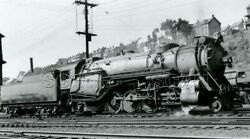 0aa995 Rp 1939/80s Crr Of Nj Central Railroad Of New Jersey 2-8-2 Loco 933