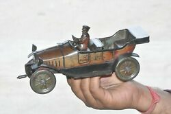Early 1920's Hess Mobil 1021 Jlh Flywheel Litho Touring Car Tin Toy,germany