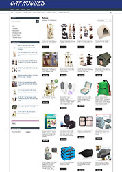 CAT HOUSES WEBSITE WITH 1 YEARS HOSTING ECOMMERCE NEW DOMAIN