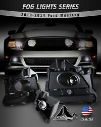 For 13-14 Ford Mustang Fog Lights Assembly Bumper Driving Lamp Clear Pair Wiring