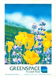 Ann Laddon Poster California Poppies And Wildflowers For Greenspace, Cambia