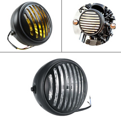 35w Retro Round Motorcycle Headlight Headlamp With Grill Cover For Cg125 Gn125