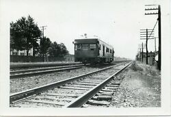 5e839 1940s Negative And Real Photo Sperry Rail Service Car 130