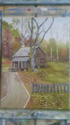 12x16 Oil Painting Of The Tipton Cabin Cades Cove In The Great Smoky Mountains