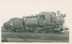 J963 Rppc 1950s Cnj Jersey Central Crr Of Nj Camelback Engine 41
