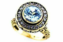 Topaz And Diamond Vintage Ring 9ct 9k Solid Gold Antique Womens Ring R199 Custom