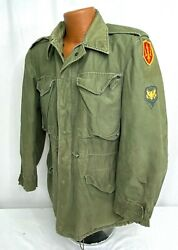 Vintage Us Army Air Defense Command Patched Field Jacket