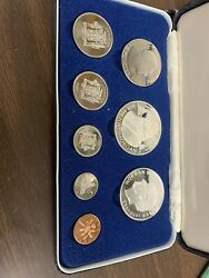 Jamaica 1974 8 Coin 2 Silver Proof Set Case Coa As Issued Henry Morgan T25