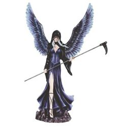Dark Angel Fairy In Black Figurine 12.25 inch