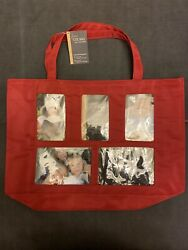 Bed Bath And Beyond Red Photo Front Tote Bag W/ Coin Purse Nwt