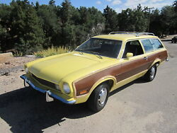 1972 Ford Pinto Station Wagon Yellow, 24x36 Inch Poster, The Good Old Days