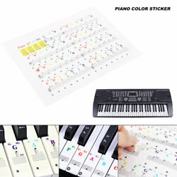 Color Piano Stickers for 49 61 76 88 Key Keyboards Keyboard Stickers Removable